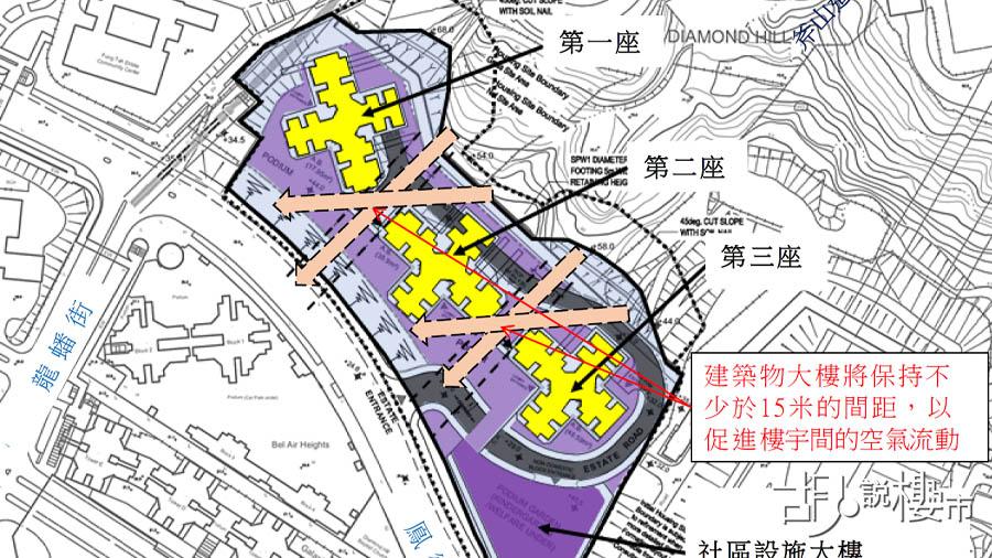 「鳳德道」前方的小山坡,現時正改劃為公營房屋發展 (資料來源:區議會文件)