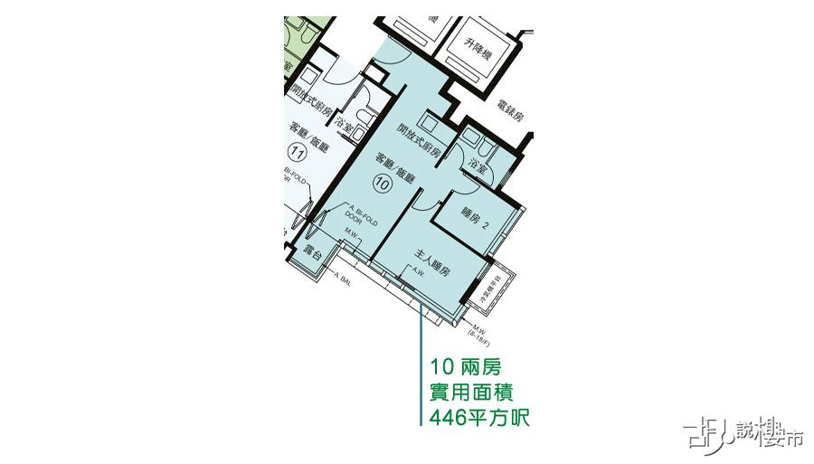 3座10室平面圖