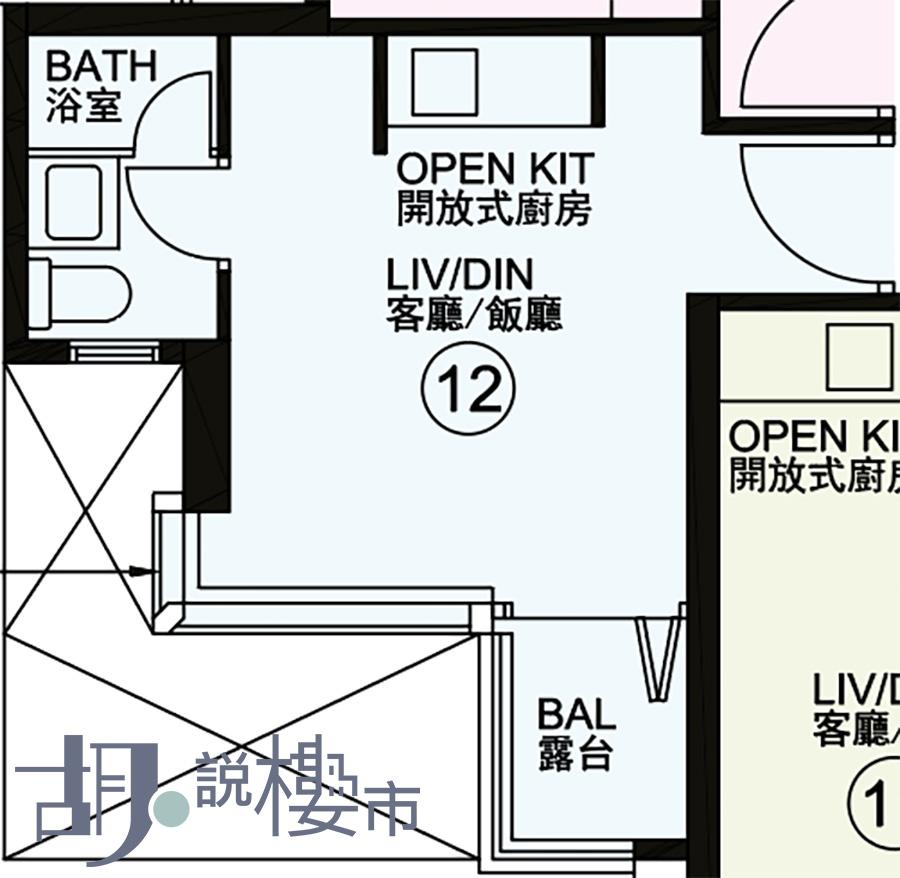 2座12室平面圖
