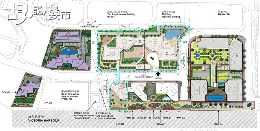 油塘工業綜合發展區規劃圖