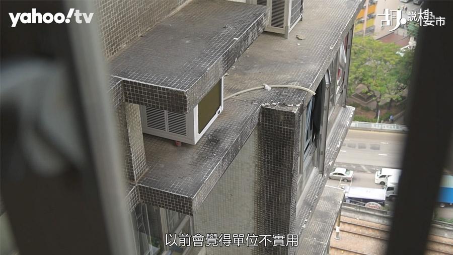 「錦華花園」已經35年樓齡,你能否看見原本白色大廈外牆,都已經變得灰暗暗