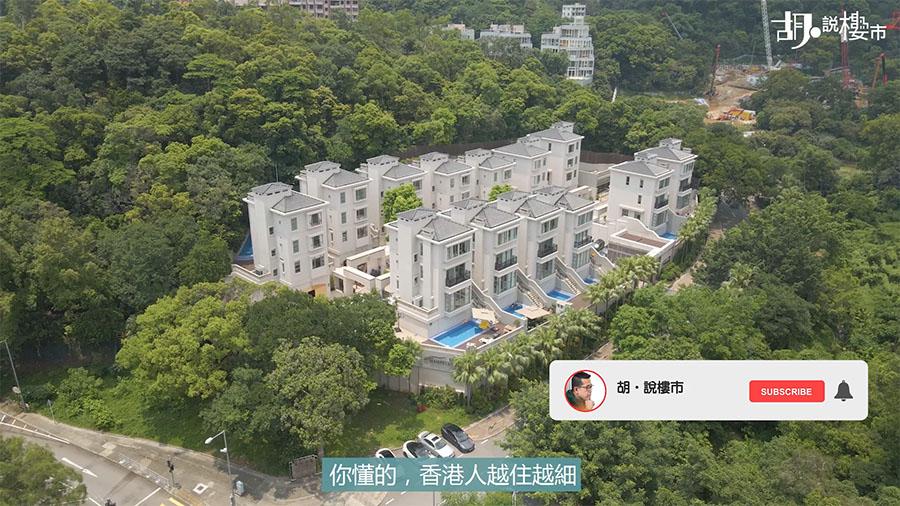 發展商轉租為賣的低密度屋苑「泓山」,整個屋苑都是洋房